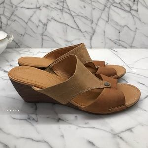 Naya tan leather upper & lining slip on sandals